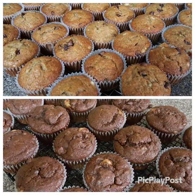 banana chocolate chip muffin recipe