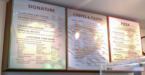 infusion cafe menu image