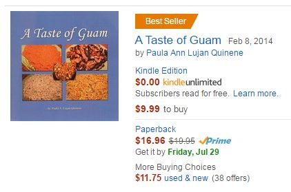 best selling guam cookbook